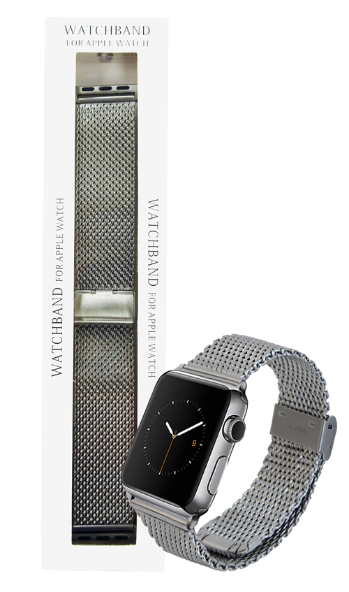 Silver Stainless 42mm Steel Loop Apple Watch Strap